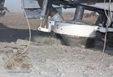 Процесс бурения дизельным станком СБШ-250Д