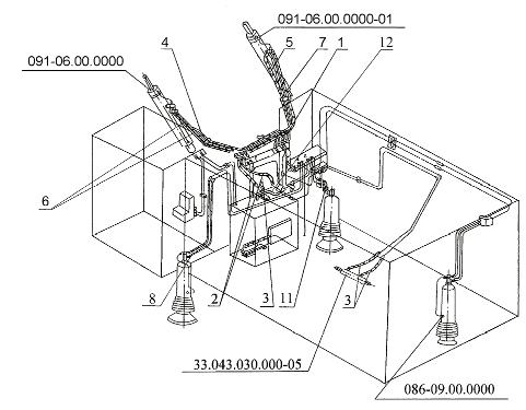 Маслопровод машинного отделения