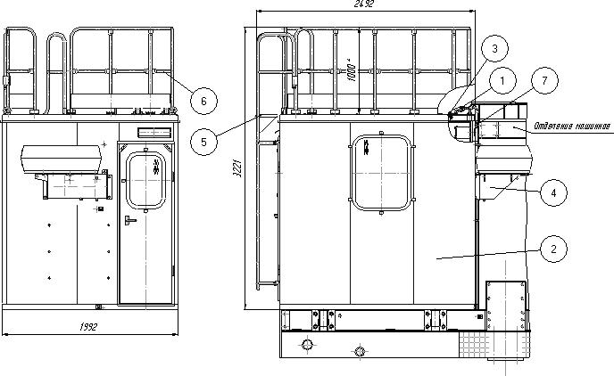 Установка кабины (38 исполнение станка)