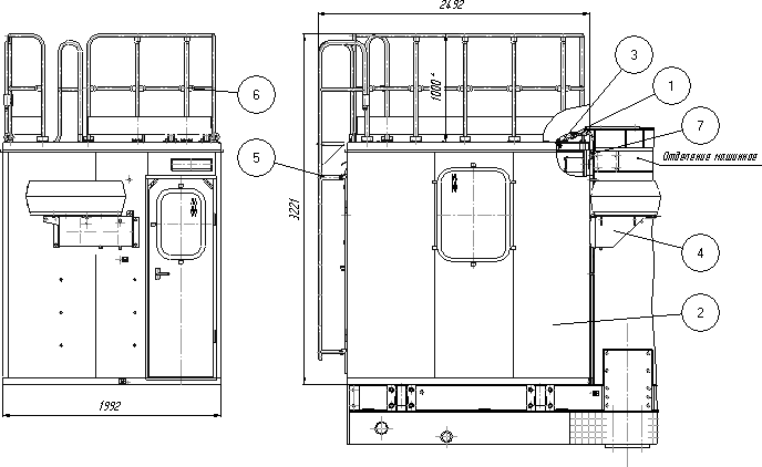 Установка кабины (37 исполнение станка)